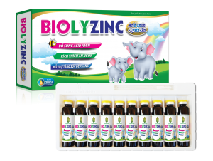 BIOLYZINC Acid amin + Lysin + Zn H/10 ống 20ml